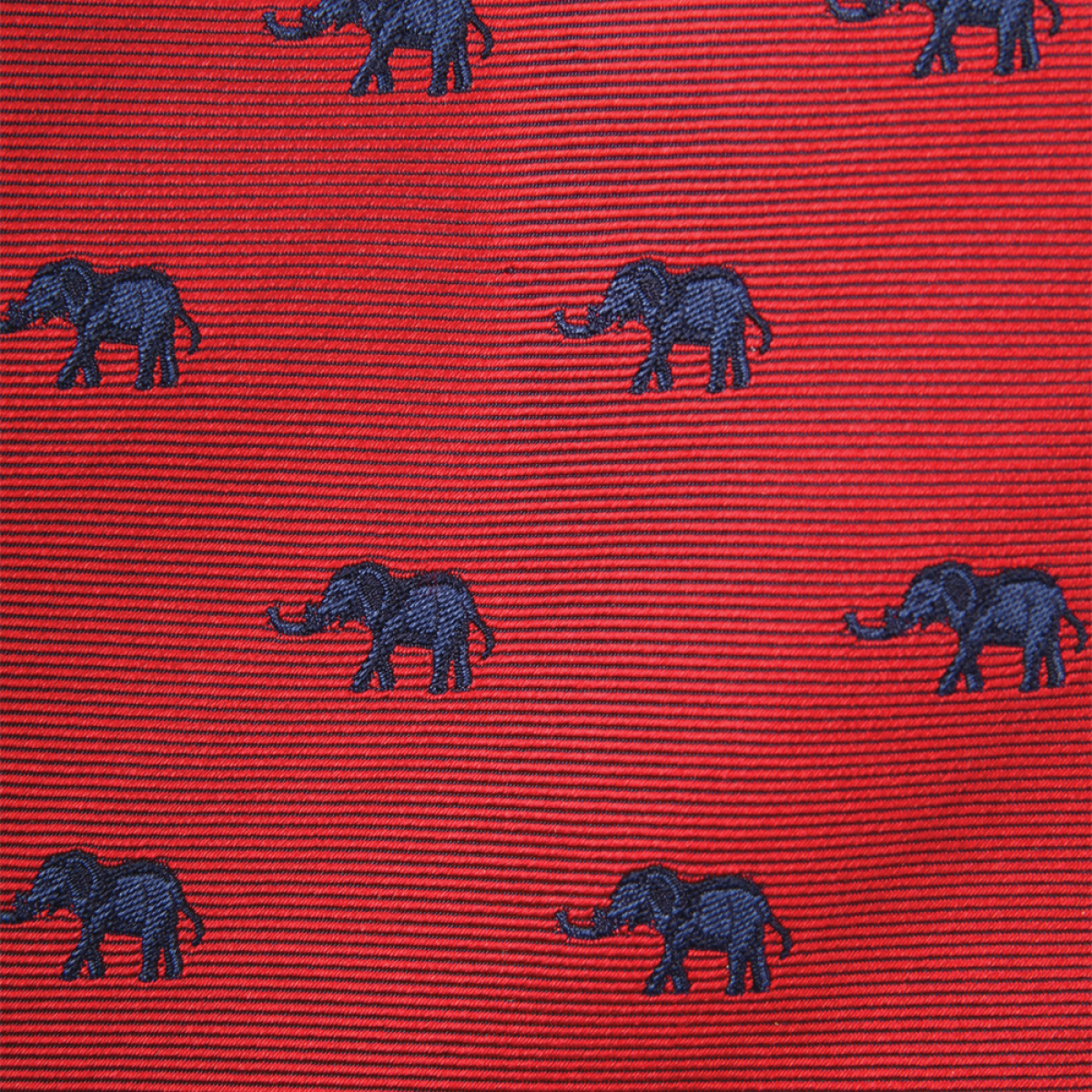 Woven Elephant Bow - Red with Navy